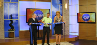 GLD Enterprises Commercial Writing celebrates 15 years with live TV ribbon cutting.